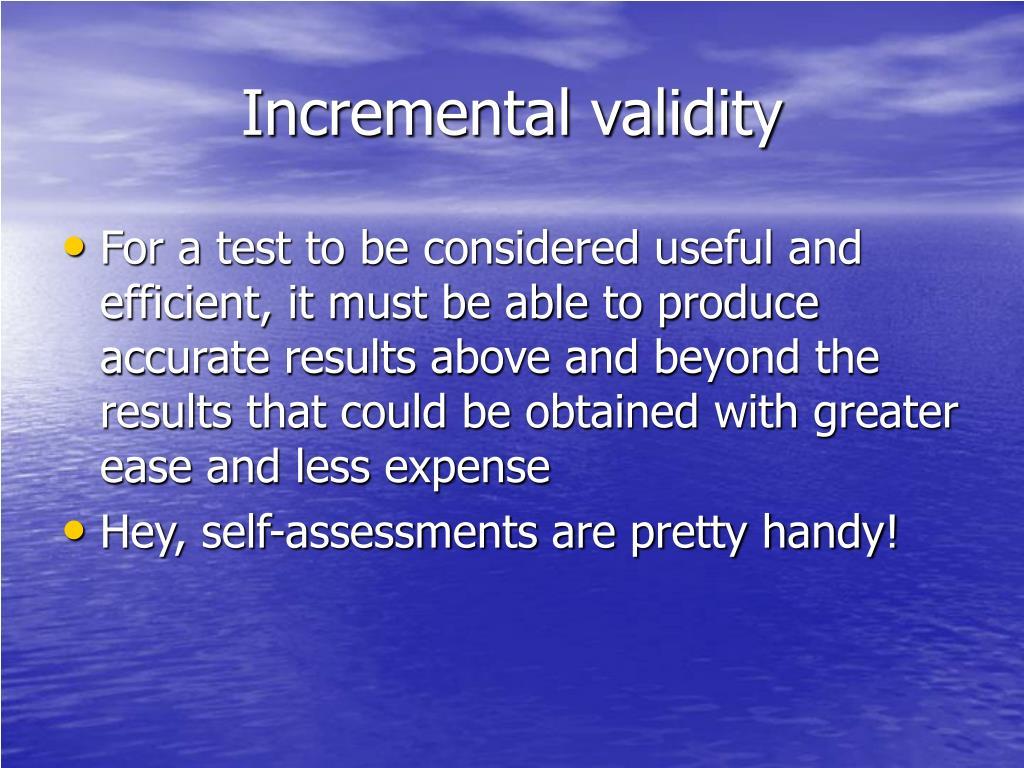 Incremental validity