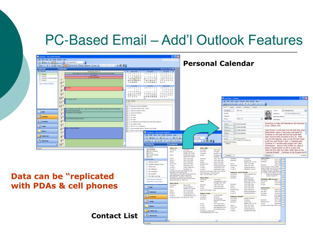 PC-Based Email – Add'l Outlook Features
