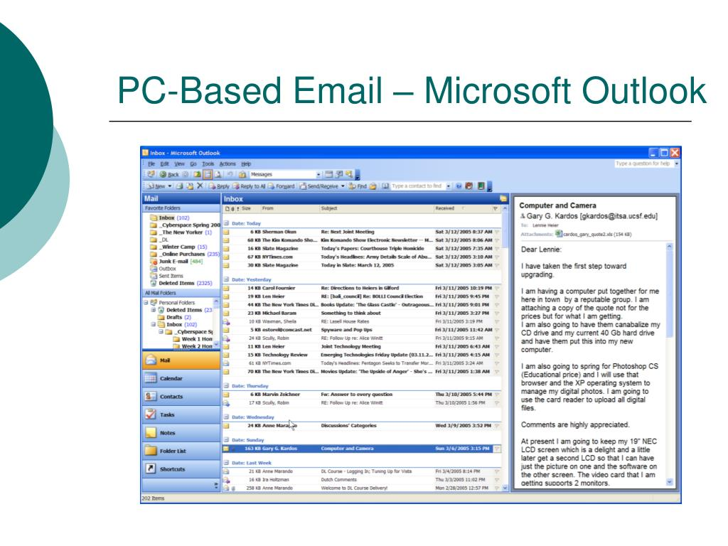 PC-Based Email – Microsoft Outlook