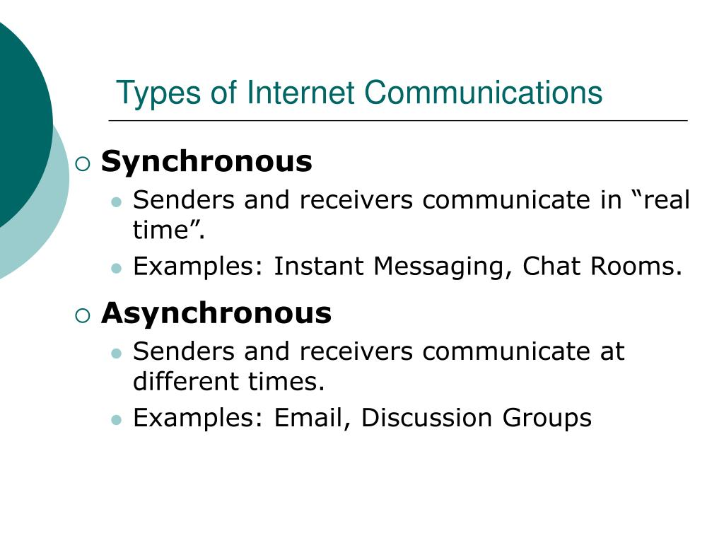 Types of Internet Communications
