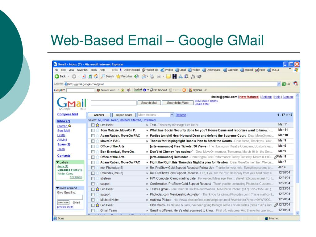 Web-Based Email – Google GMail