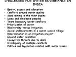 challenges for water governance in india