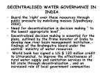 decentralised water governance in india