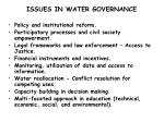 issues in water governance