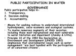 public participation in water governance