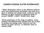 understanding water governance