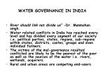 water governance in india