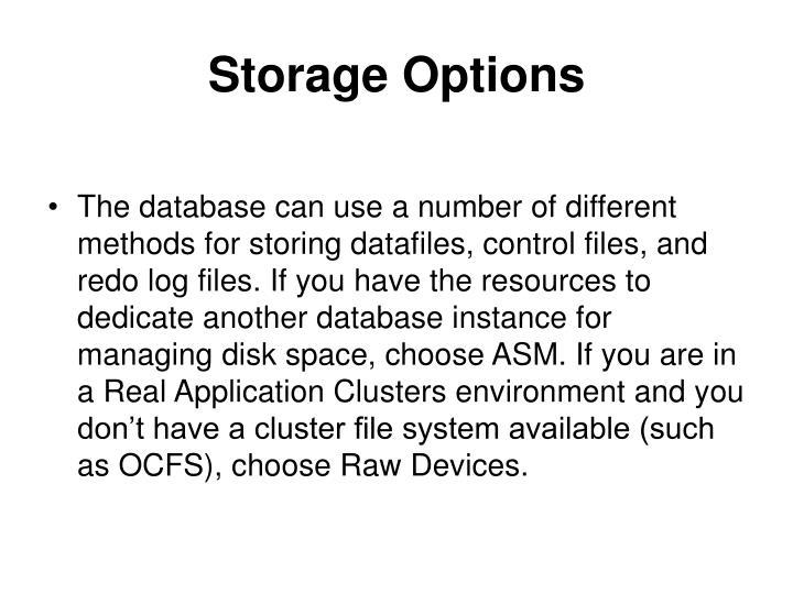 Storage Options