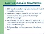 load tap changing transformers