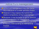 active fund management