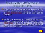 benchmarking for g secs and corporate bonds