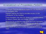 evaluation of proposed pattern