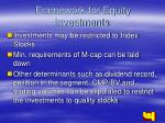 framework for equity investments
