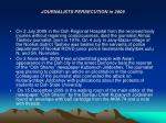 journalists persecution in 200917