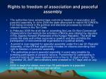 rights to freedom of association and peaceful assembly
