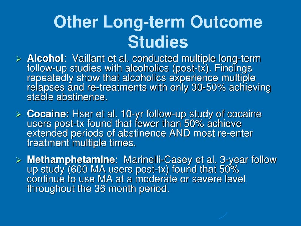 Other Long-term Outcome Studies