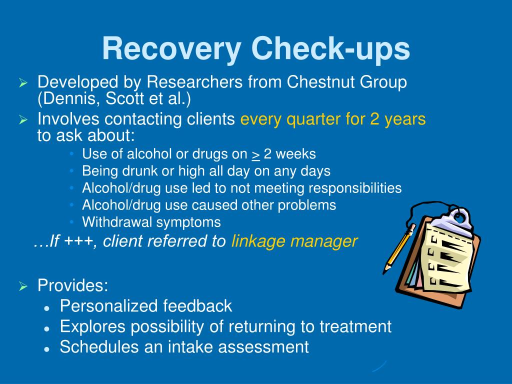 Recovery Check-ups
