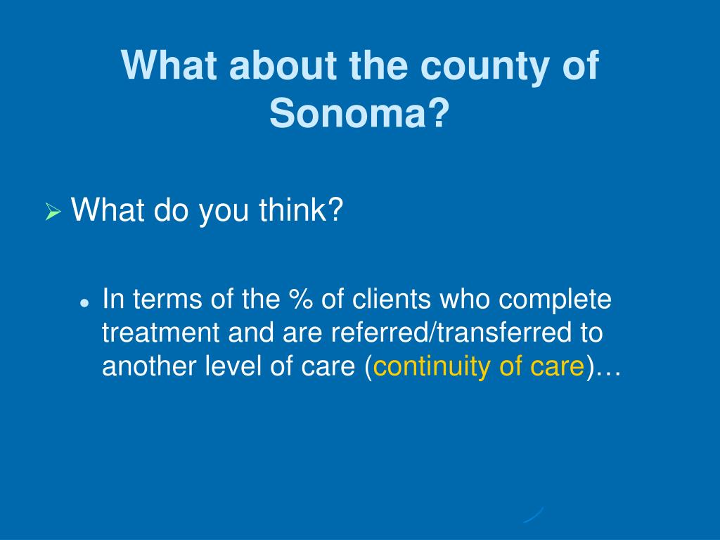 What about the county of Sonoma?