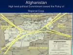 afghanistan high level political commitment toward the policy of regional coop