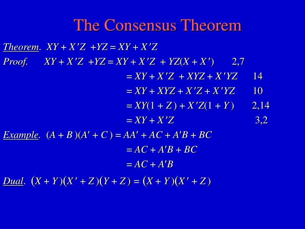 The Consensus Theorem