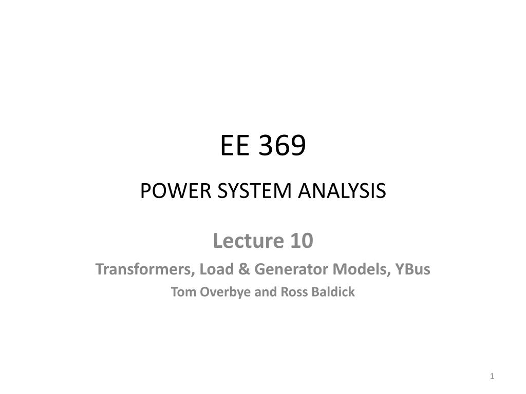 ee 369 power system analysis l.