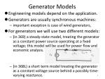 generator models