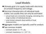 load models