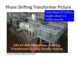 phase shifting transformer picture