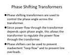 phase shifting transformers