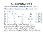 y bus example cont d18