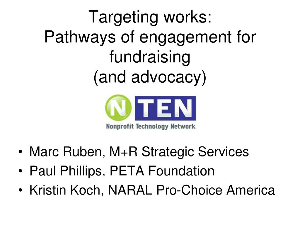 targeting works pathways of engagement for fundraising and advocacy l.