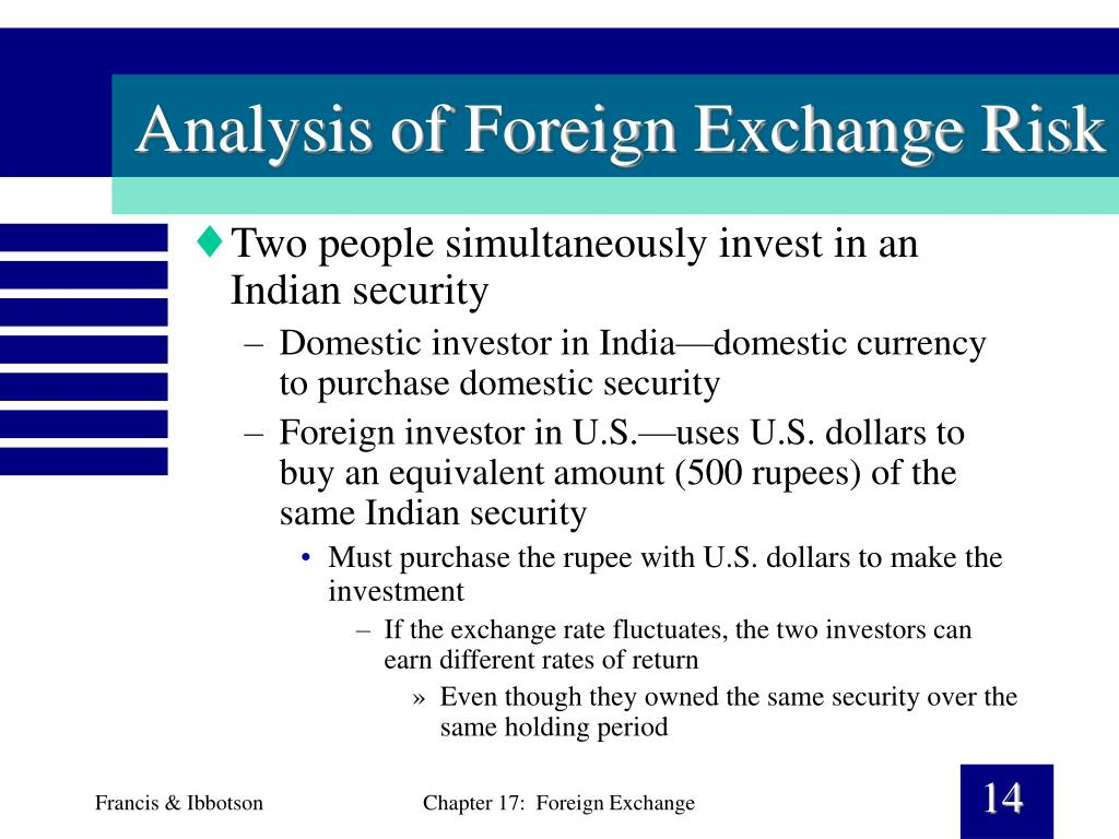 Analysis of Foreign Exchange Risk