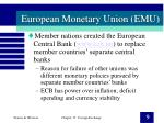 european monetary union emu9