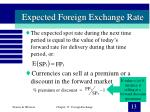 expected foreign exchange rate