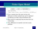 fisher open model
