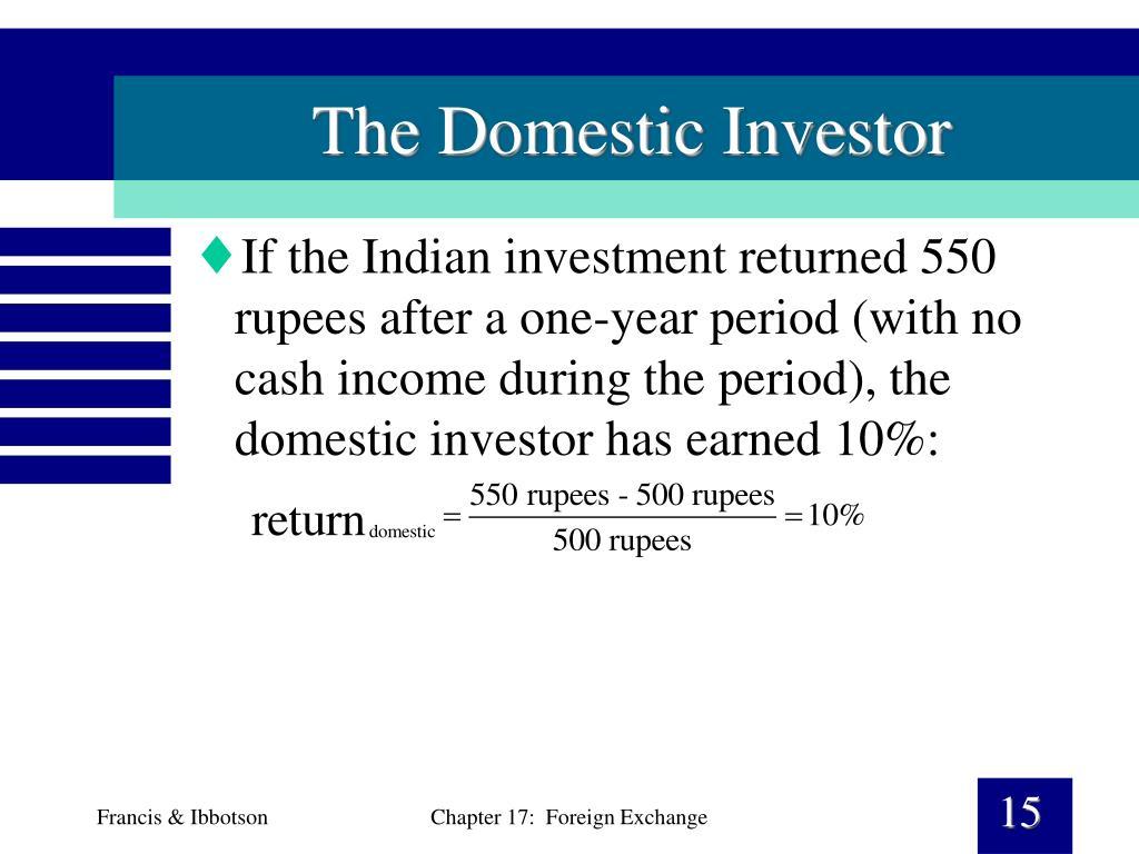 The Domestic Investor