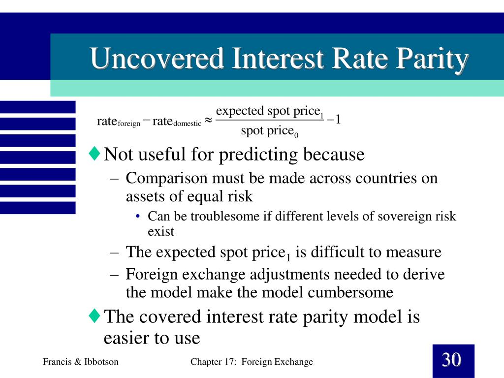 Uncovered Interest Rate Parity
