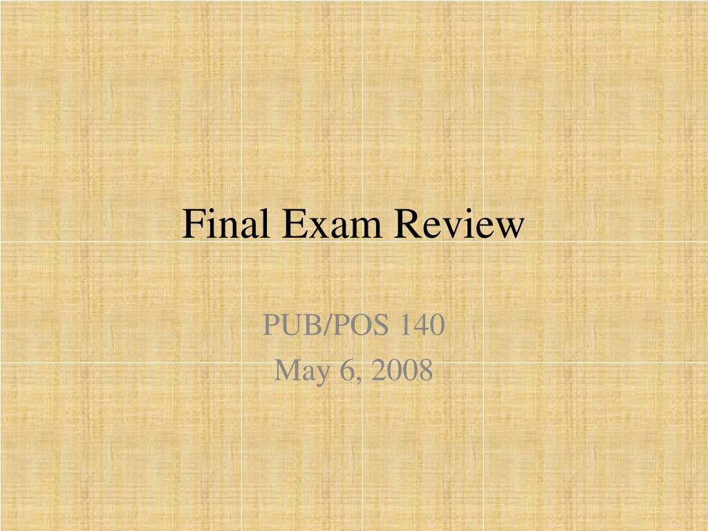 final exam review l.