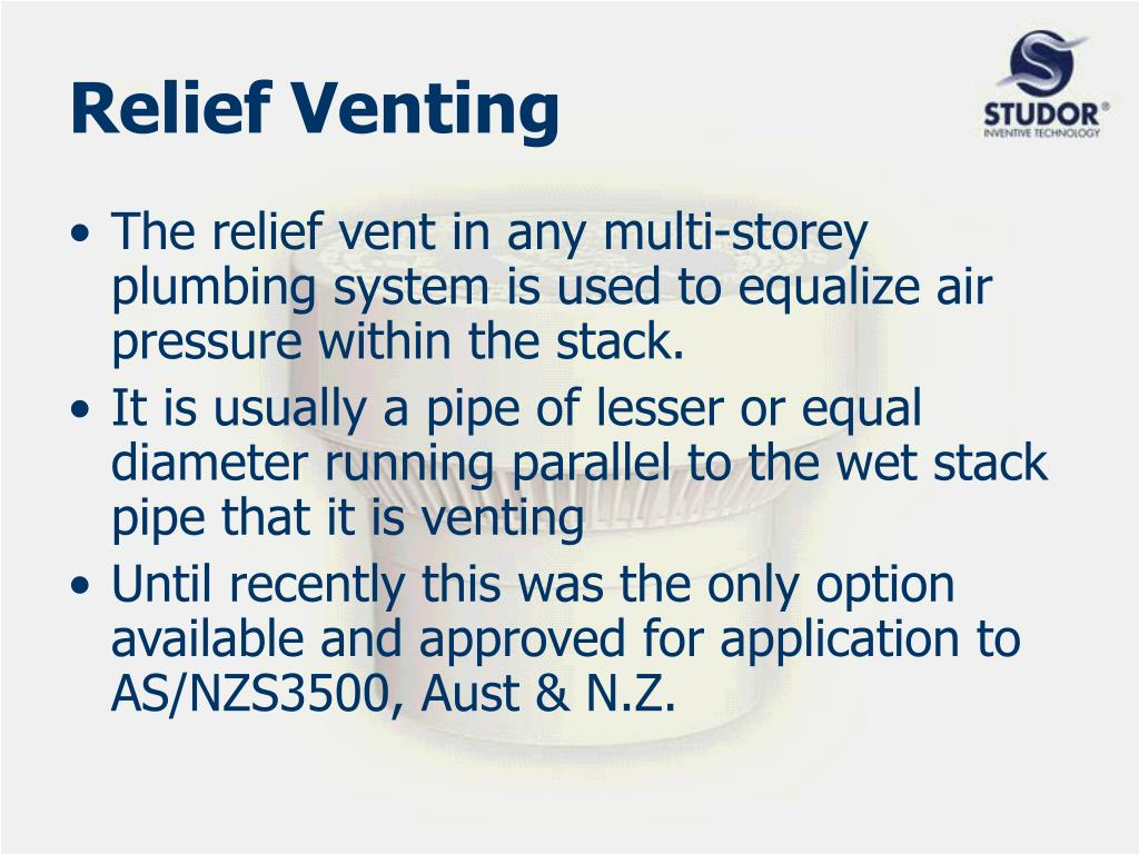 Relief Venting