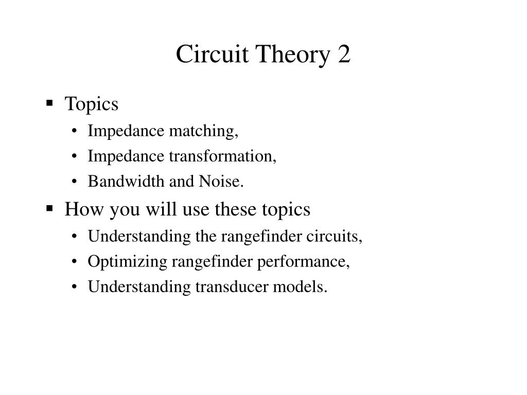 circuit theory 2 l.