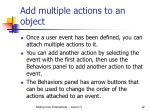 add multiple actions to an object