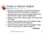 create a rollover button