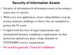 security of information assets