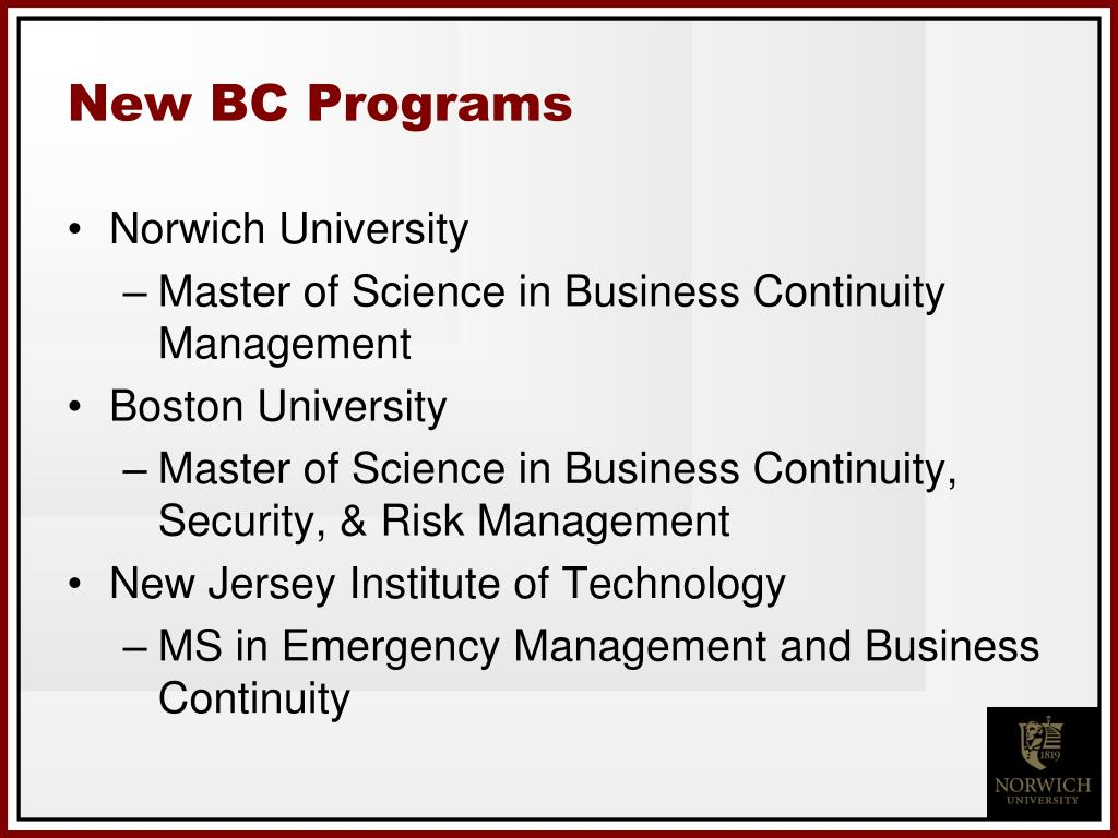 New BC Programs