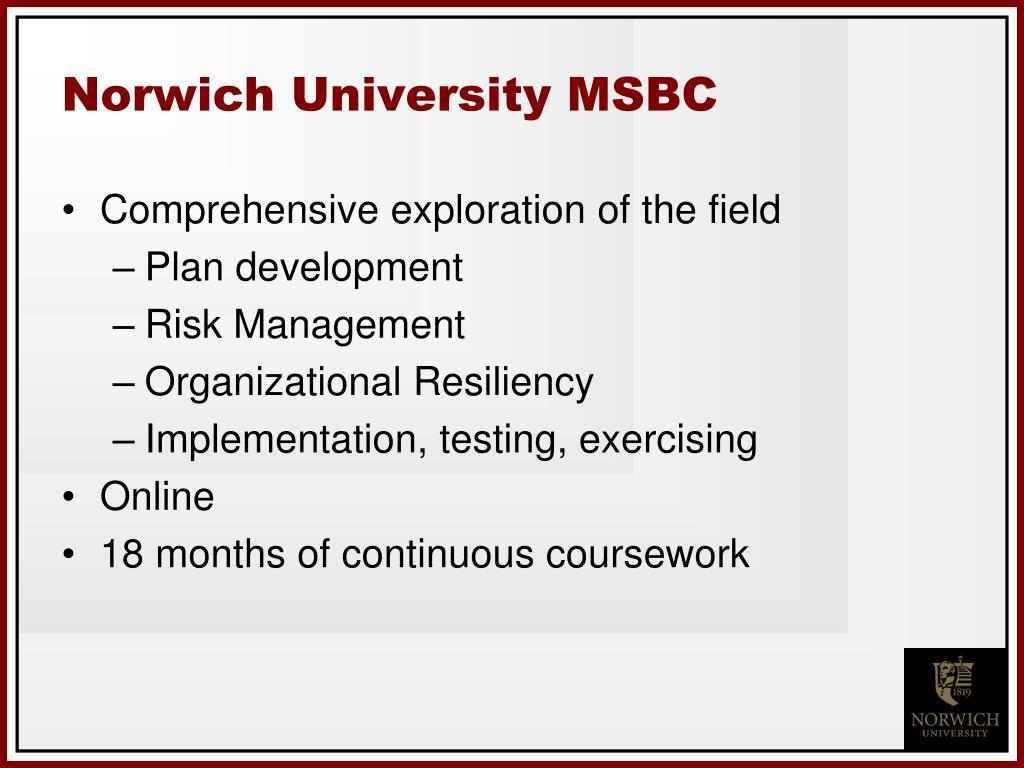 Norwich University MSBC