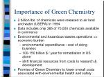 importance of green chemistry