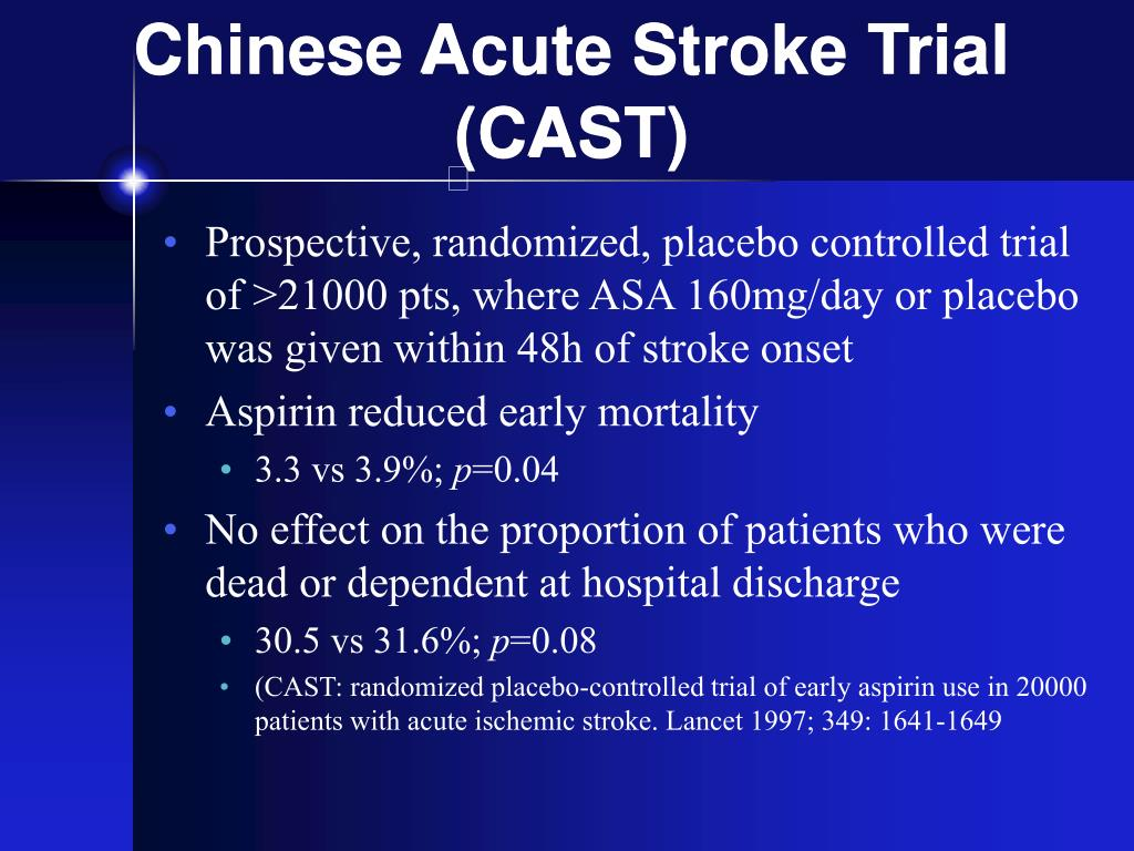 Chinese Acute Stroke Trial (CAST)