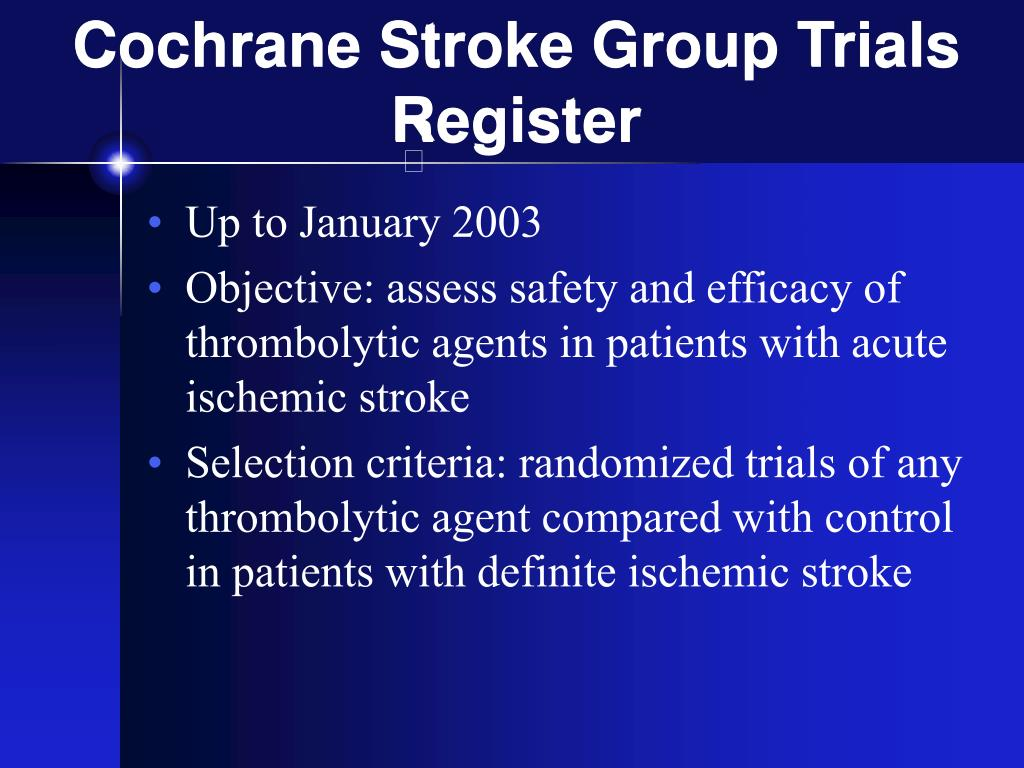 Cochrane Stroke Group Trials Register
