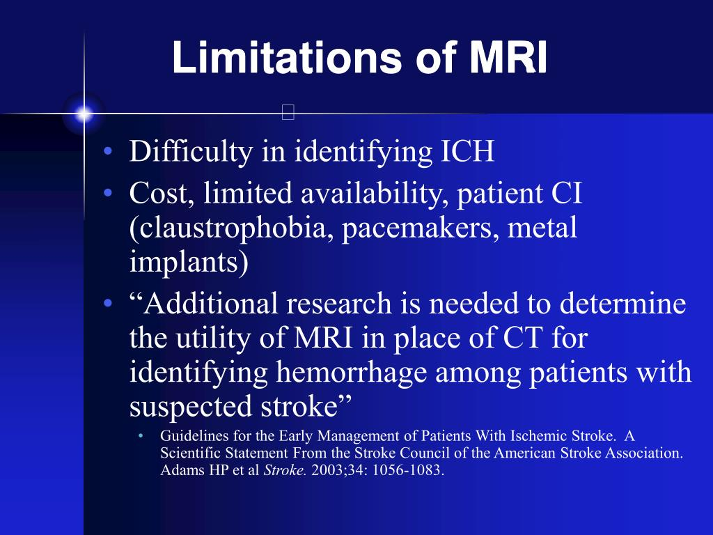 Limitations of MRI
