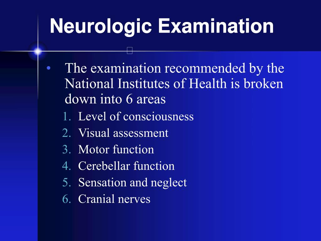 Neurologic Examination